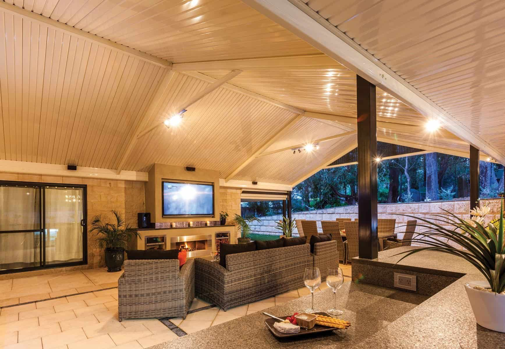 Eco Friendly and Sustainable Gable Patio Design