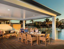 pavilion grande patio with deck
